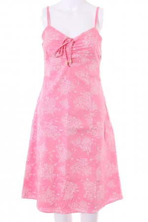 TCM A-Linien Kleid pink-weiß Allover-Druck Casual-Look