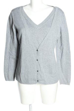 TCM Ensemble en tricot gris clair style décontracté