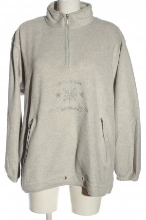 TCM Polarowy sweter jasnoszary Melanżowy W stylu casual