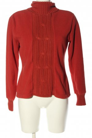 TCM Fleece Jumper red cable stitch casual look