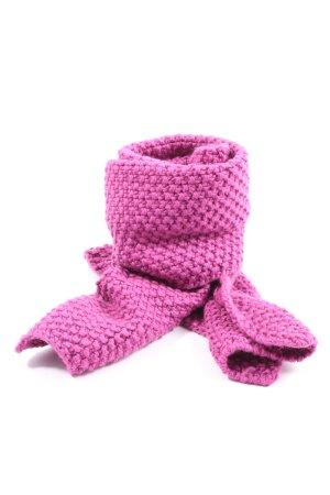 TCM Bufanda de ganchillo rosa look casual