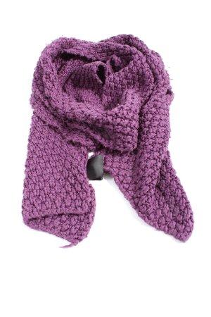TCM Écharpe en crochet violet torsades style décontracté