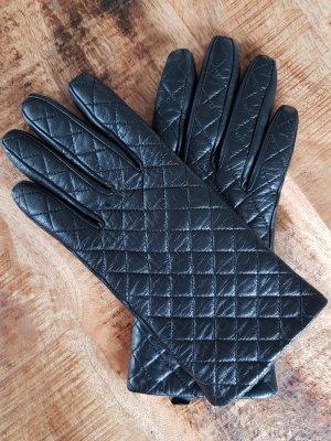 Tchibo / TCM Leather Gloves black leather