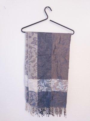 Tchibo / TCM Écharpe à franges gris brun-gris