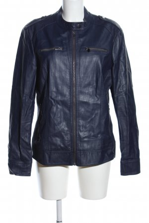 TCM Faux Leather Jacket blue casual look