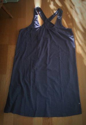 TCM Vestido elástico azul oscuro tejido mezclado
