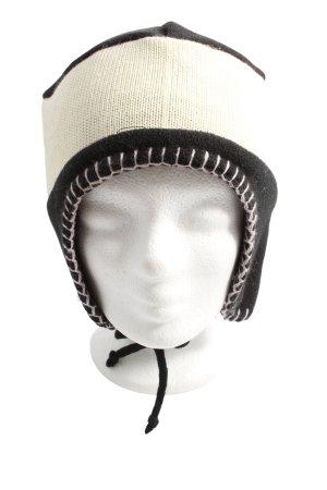 TCM Bonnet cache-oreilles blanc cassé-noir style décontracté