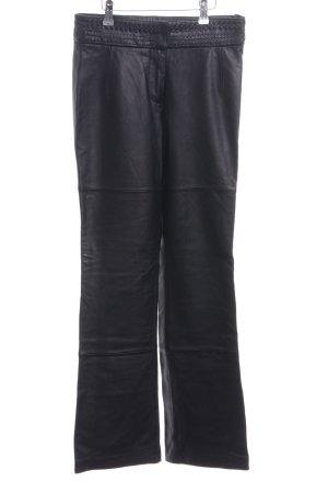 TCM Pantalone in pelle nero stile stravagante