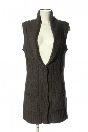 TCM Gilet long tricoté gris clair style décontracté
