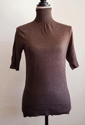 TCM Short Sleeve Sweater brown-dark brown viscose