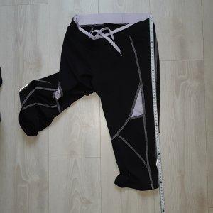 TCM Pantalone da ginnastica nero-lilla