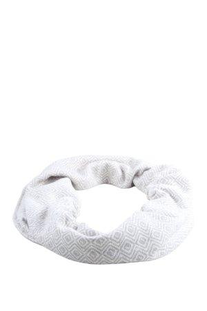 TCM Écharpe ronde blanc-gris clair imprimé allover style décontracté