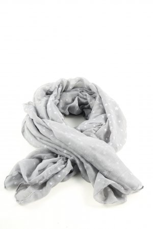 TCM Chal veraniego gris claro-blanco estampado repetido sobre toda la superficie