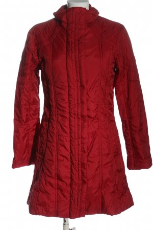 TCM Quilted Coat red quilting pattern casual look