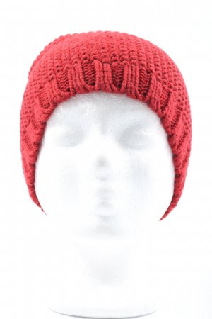 TCM Fabric Hat red cable stitch casual look