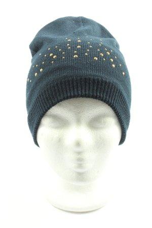 TCM Sombrero de punto azul look casual