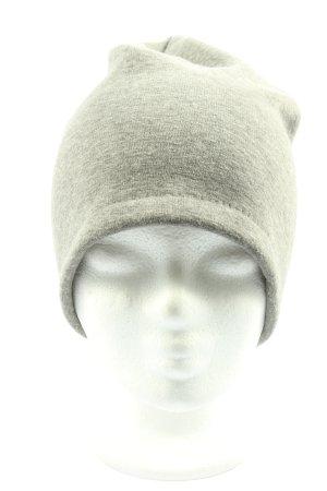 TCM Sombrero de punto gris claro moteado look casual