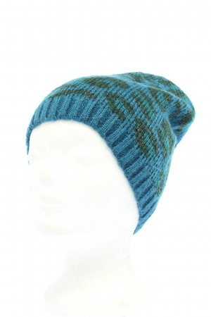 TCM Knitted Hat blue-black allover print casual look