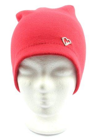 TCM Sombrero de punto rojo look casual
