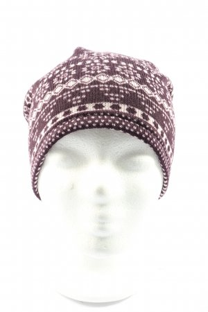TCM Knitted Hat brown-white allover print casual look