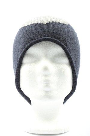 TCM Sombrero de punto azul-blanco look casual