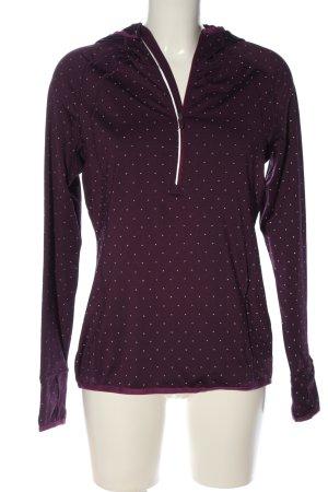 TCM Sweatshirt lila Allover-Druck Casual-Look