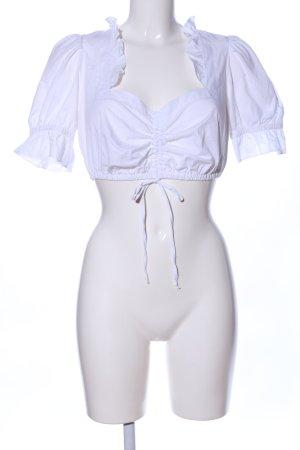 TCM Folkloristische blouse wit elegant