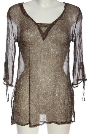 TCM Transparent Blouse brown allover print elegant