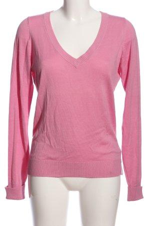 TCM Jersey con cuello de pico rosa look casual