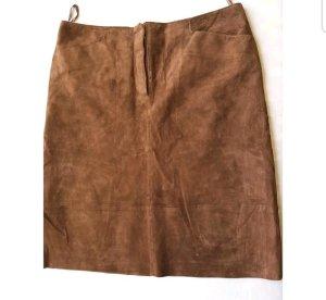 TCM Falda de cuero marrón Cuero