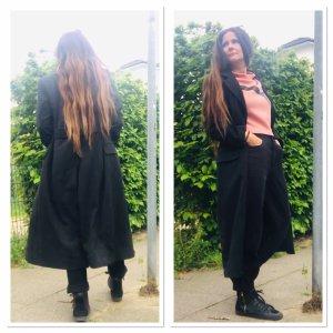 0039 Italy Redingote noir laine