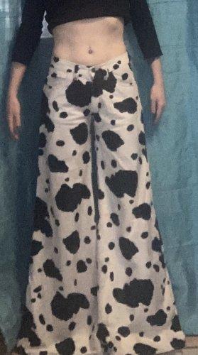 CRK Club Couture Pantalon Marlene blanc-noir