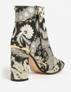 Ted Baker Ankle Boots Frühling Praisley Strick embroided 36 Stiefeletten Blockabsatz