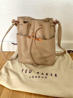 Ted baker Beutel Leder beige rose epi Roségold saffiano