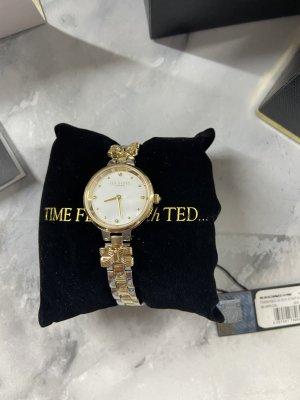 Ted Baker Damen Uhr Metall Gold Silber Schleife Bow TE50007002