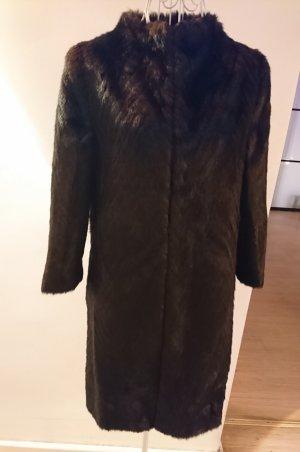 Ted baker Cappotto in eco pelliccia bronzo-marrone-nero
