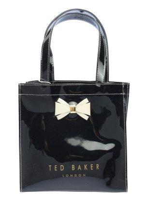 Ted baker Handtasche schwarz-creme Schriftzug gedruckt Casual-Look