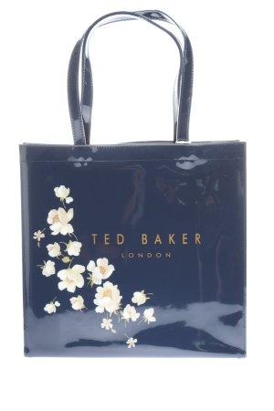 Ted baker Henkeltasche blau-weiß Blumenmuster Elegant