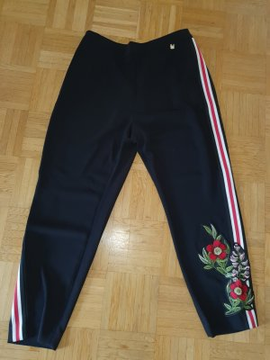 Ted baker Pantalone peg-top nero-rosso mattone Poliestere