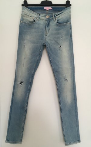 Ted Baker Jeans Hose Destroyed blau hellblau Denim Skinny Röhrenjeans W 26