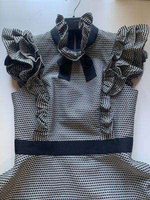Ted Baker Kleid Grau Schwarz Gr 36/38 Neuwertig
