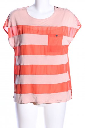 Ted baker Kurzarm-Bluse rot-pink Streifenmuster Casual-Look