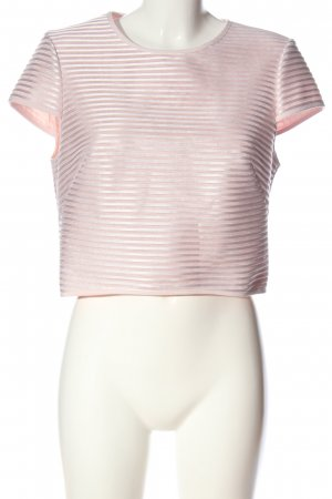 Ted baker Kurzarm-Bluse pink Streifenmuster Casual-Look