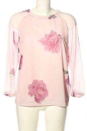 Ted baker Langarm-Bluse creme-pink Blumenmuster Casual-Look