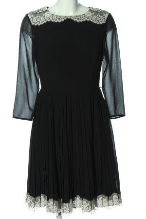 Ted baker Langarmkleid schwarz-wollweiß Elegant