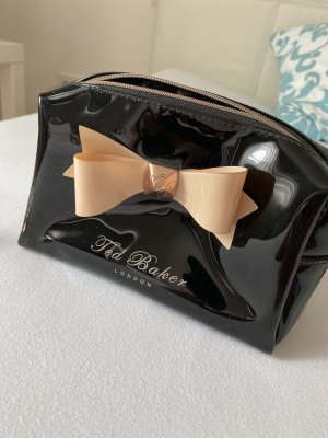 Ted Baker London Bow Kosmetiktasche schwarz beige wie neu