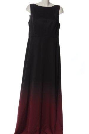 Ted baker Maxi abito nero-marrone Colore sfumato elegante