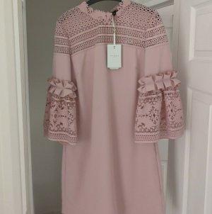 Ted Baker Midi Kleid rosa Gr.38