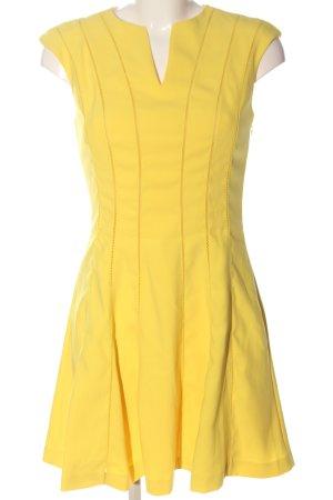 Ted baker Abito linea A giallo pallido stampa integrale stile casual