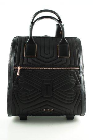 Ted baker Bolso de viaje negro estampado acolchado estilo «business»
